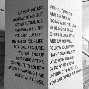 "quote ""Art is Pointless without Passion"""