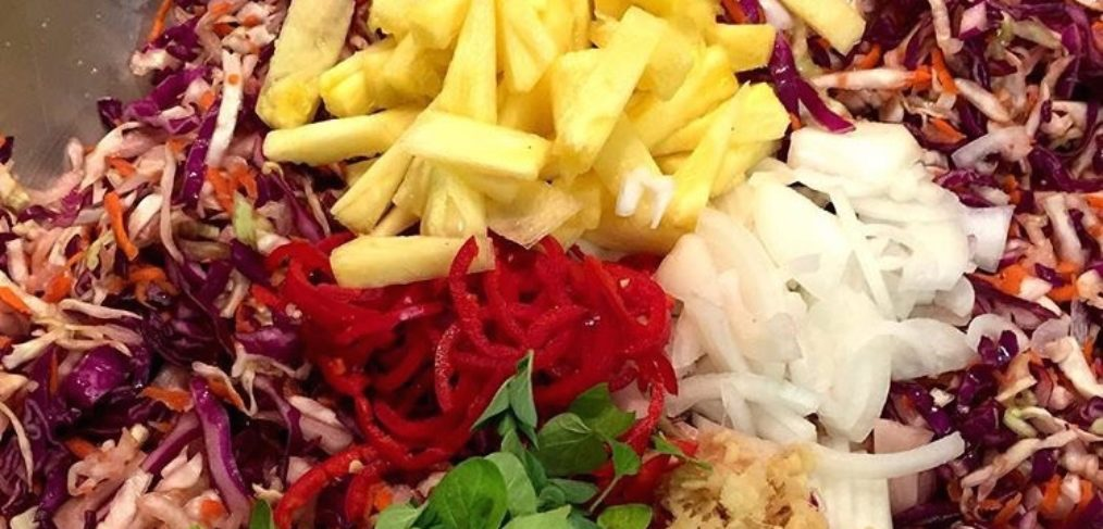 sauerkraut in the making